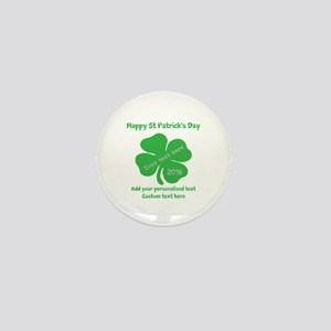 St Patricks Day Personalized Mini Button